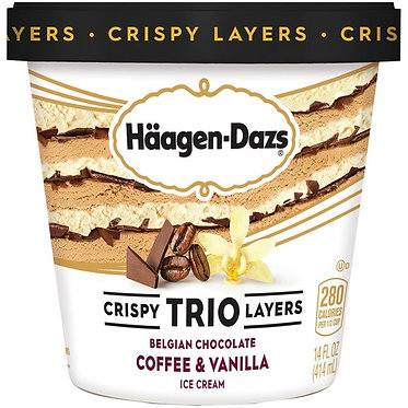 HAAGEN DAZS - Trio Belgian Chocolate/Coffee/Vanilla Ice Cream 14 fl oz