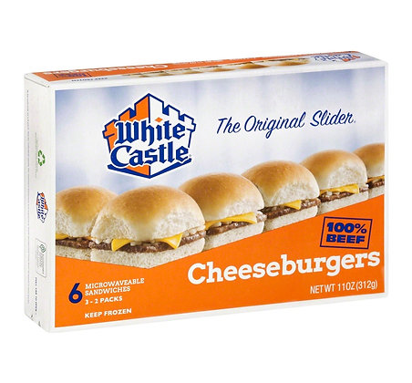 White Castle Microwaveable Frozen Cheeseburgers - 6pk