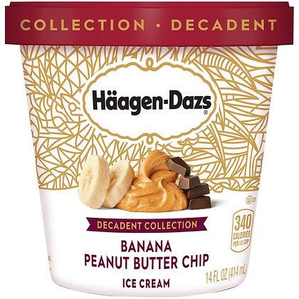 HAAGEN-DAZS Decadent Collection Banana Peanut Butter Chip Ice Cream 14 fl oz