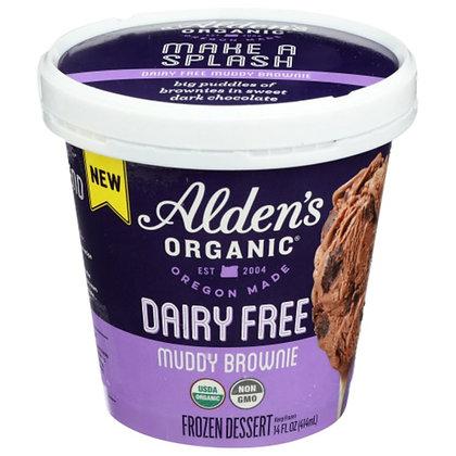 Alden's Organic Frozen Dessert, Dairy Free, Muddie Brownie 14 oz
