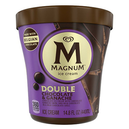 Magnum Ice Cream Tub Double Chocolate & Ganache 14.8 oz