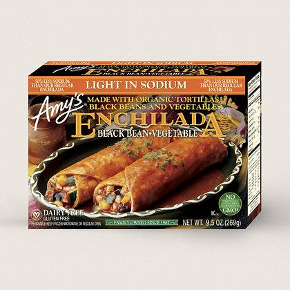 Amy's Light in Sodium Organic Black Bean & Vegetable Frozen Enchilada Entree - 9