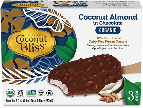Coconut Bliss Coconut Almond in Chocolate Bars Dairy-Free - 3 CT 9oz Total