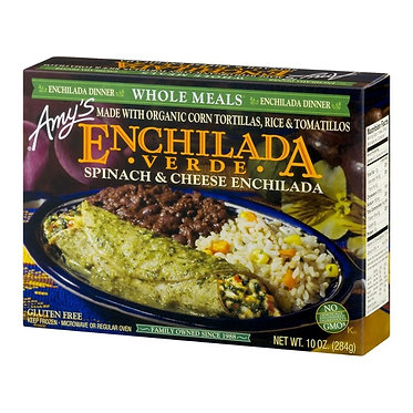 Amy's Spinach & Cheese Enchilada Verde Meal 10 oz