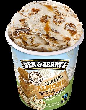 Ben & Jerry's Non- Dairy Ice Cream Caramel Almond Brittle