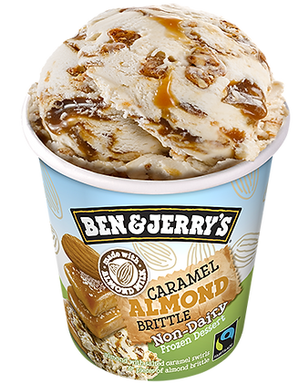 Ben & Jerry's Non- Dairy Ice Cream Caramel Almond Brittle