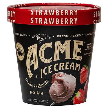 Acme Ice Cream Strawberry Ice Cream 16 fl oz