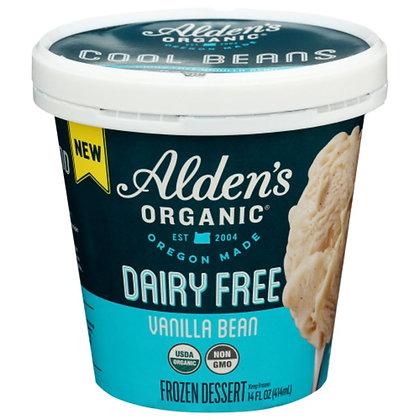 Alden's Organic Frozen Dessert, Dairy Free, Vanilla Bean 14 oz