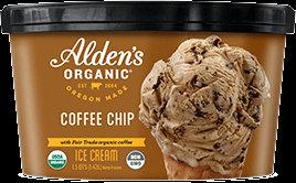 Alden's Ice Cream Organic Coffee Chip 48 fl oz