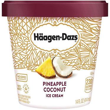 HAAGEN-DAZS Pineapple Coconut Ice Cream 14 fl oz
