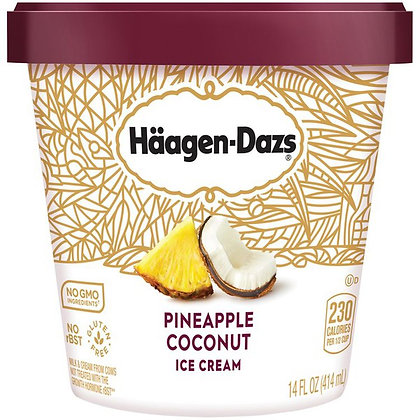 HAAGEN-DAZS Pineapple Coconut Ice Cream 14 fl oz