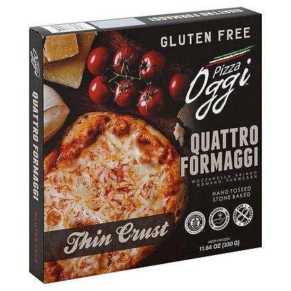 Oggi Pizza, Gluten Free, Thin Crust, Quattro Formaggi 17.64 oz