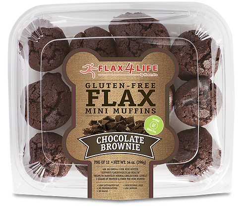 Flax4Life Muffins, Mini, Flax, Chocolate Brownie 14 oz