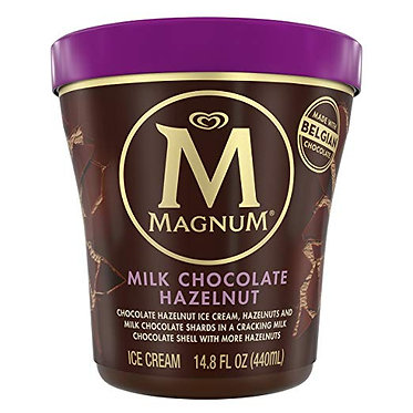 MAGNUM MILK CHOCOLATE HAZELNUT ICE CREAM TUB