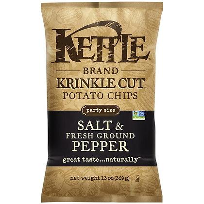 Kettle Brand® Krinkle Cut Salt & Fresh Ground Pepper Potato Chips 13 oz