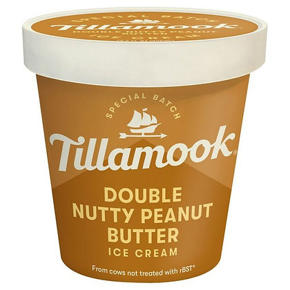 Tillamook Ice Cream, Double Nutty Peanut Butter 15.5 oz