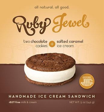 Ruby Jewel Treats Chocolate Cookie with Salted Caramel Ice Cream 5.1 oz