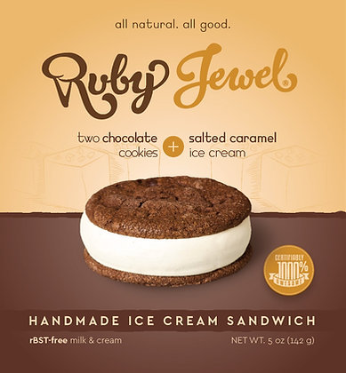 Ruby Jewel Treats Chocolate Cookie with Salted Caramel Ice Cream 5.1 oz