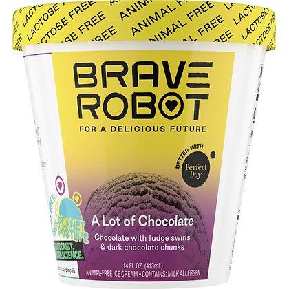 Brave Robot Ice Cream, Animal-Free, A Lot of Chocolate 14 oz