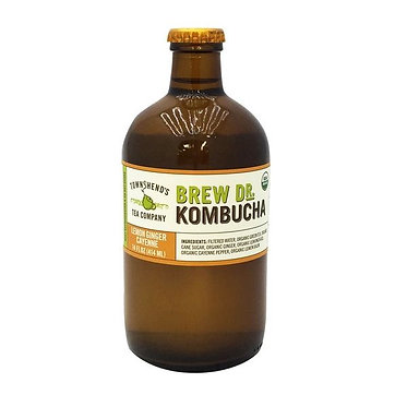 Brew Dr. Kombucha Lemon Ginger Cayenne Organic Kombucha 14.0 oz