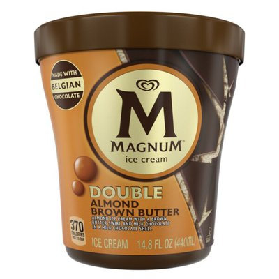 Magnum Ice Cream Tub Double Almond Brown Butter 14.8 oz