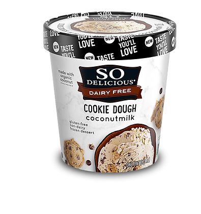 Cookie Dough (Gluten Free) COCONUT MILK DAIRY-FREE FROZEN DESSERT