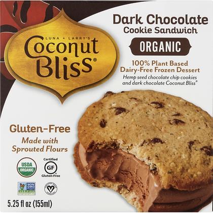 Coconut Bliss Sandwich Dark Chocolate Dairy-Free Frozen Dessert 16oz