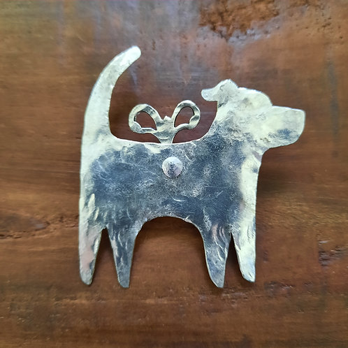 Flying Dog Brooch