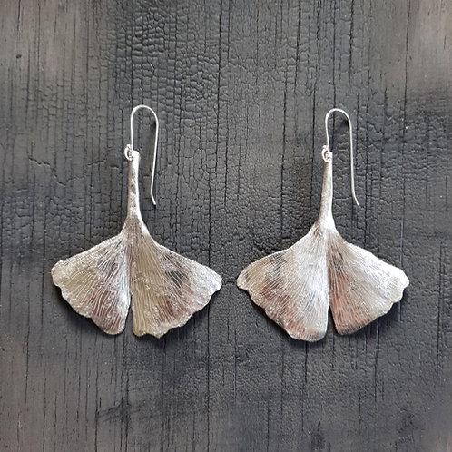 Gingko Leaf Earrings  - large