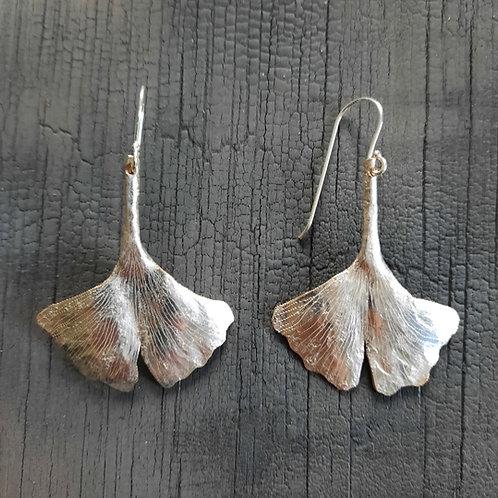 Gingko Leaf Earrings - small