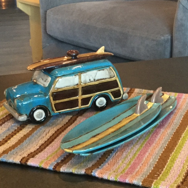 Surf Board Platters & Woody Canister