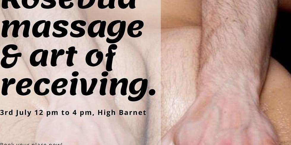 Rosebud massage & art of receiving. Guided massage exchange for gay&bi man