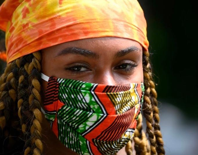 African Chevron Mask