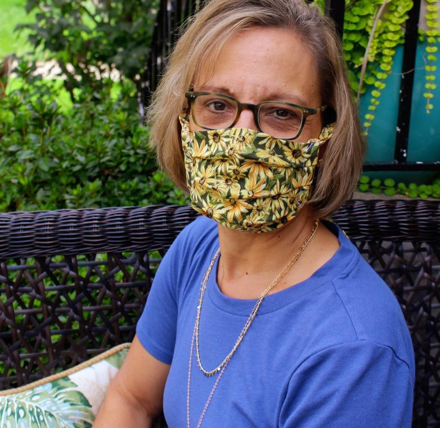 Black Eyed Susan Tie Back Mask