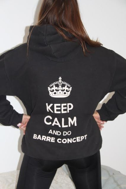 KEEP CALM AND DO BARRE CONCEPT BLACK HOODY