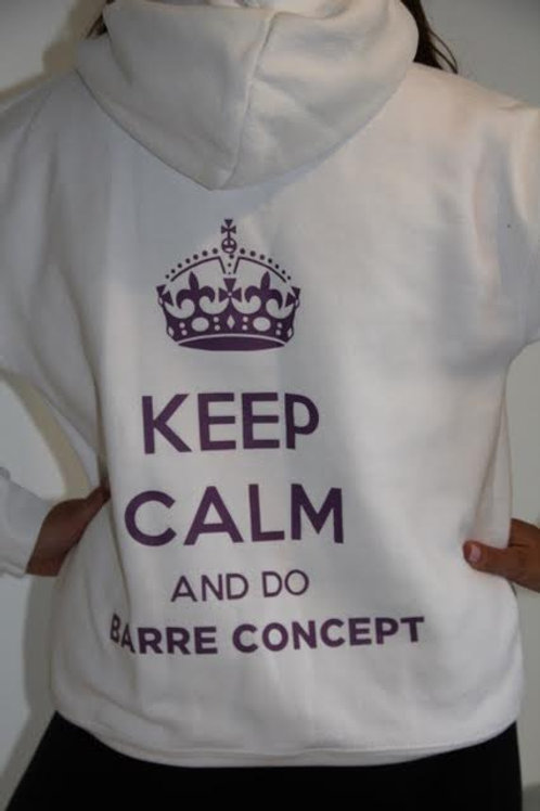 KEEP CALM AND DO BARRE CONCEPT WHITE HOODY