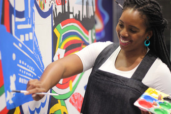 CBBC Blue Peter || Black History Month Mural