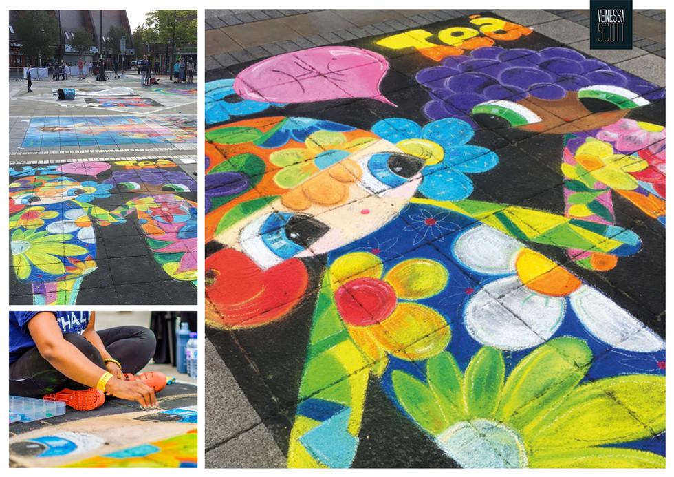 Public Art: Chalk Art Mural