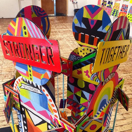 """Stronger Together"" Collaborative Sculpture"
