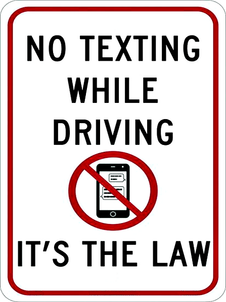 No Texting It's the Law.png