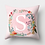 Thumbnail: Letter- Flower Wreath Pillow