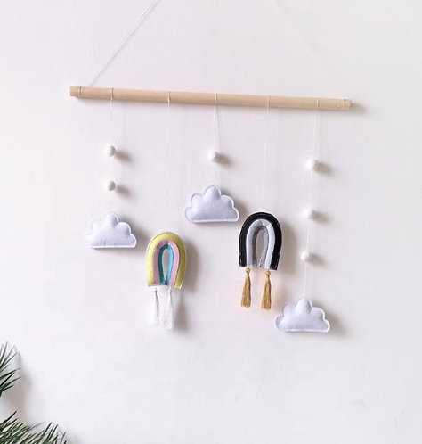 Cloud and Rainbow Wall Hanging