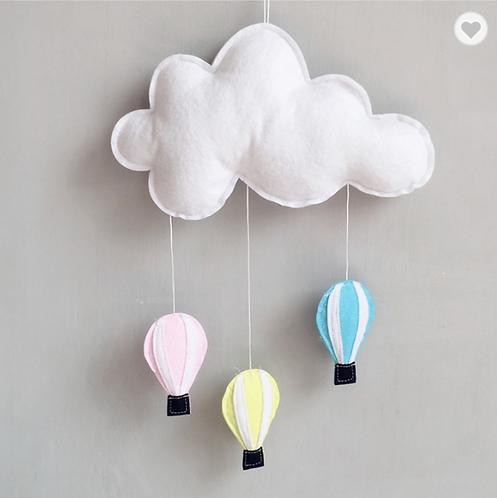 Cloud & Hot Air Balloon Wall Hanging