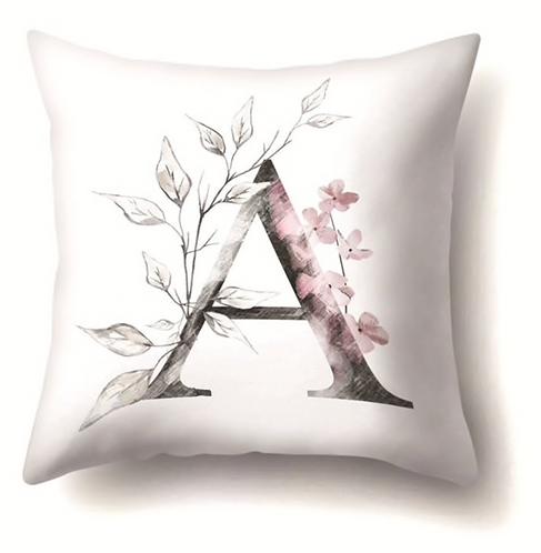 Floral Letter Pillow