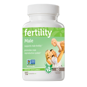 A bottle of our male fertility product