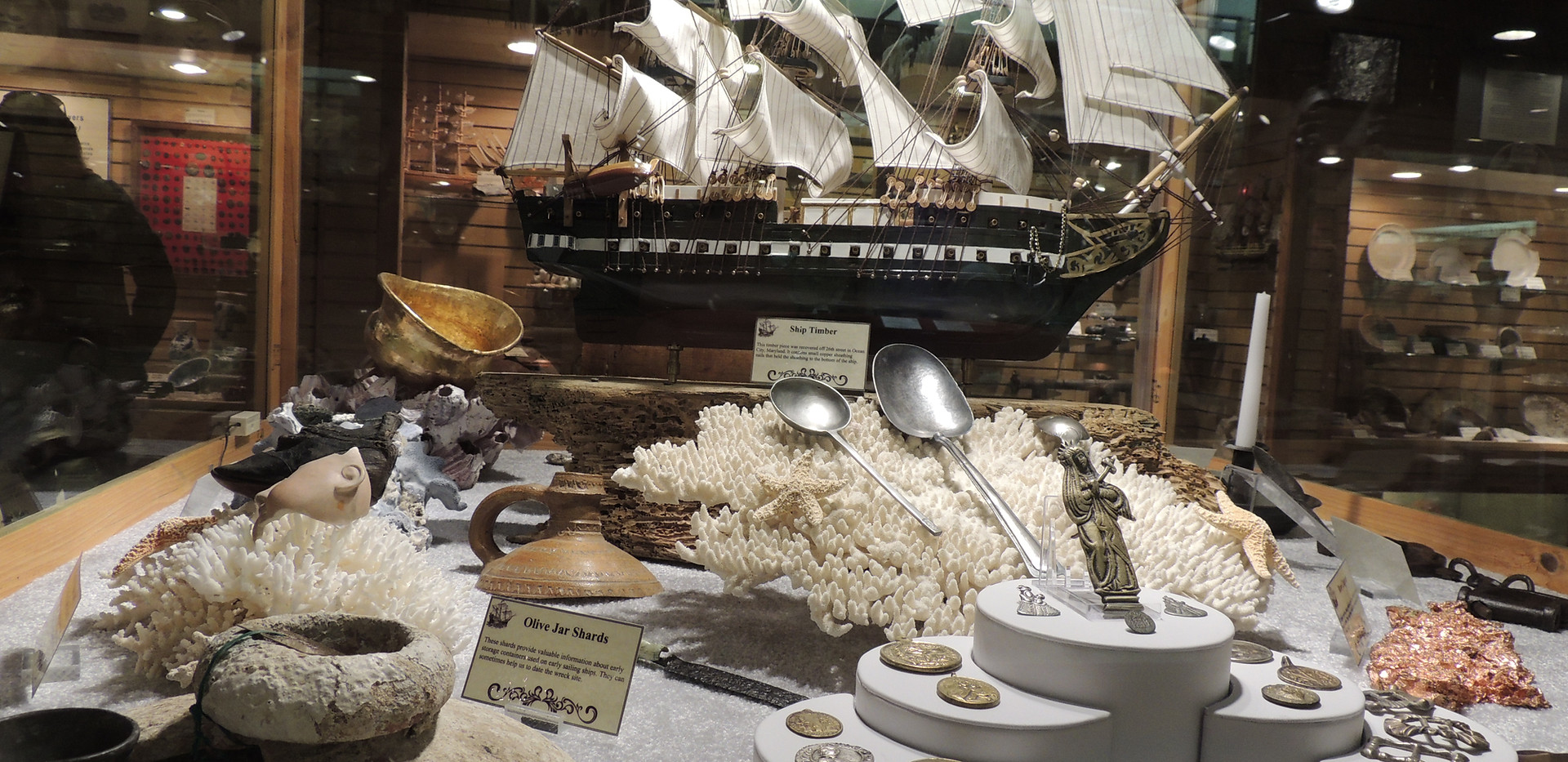 Artifacts from shipwreck around the world
