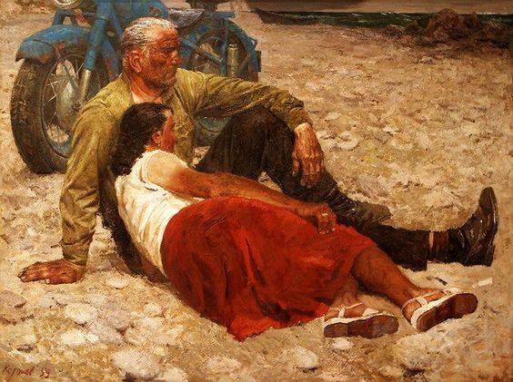 Geliy Korzhev. Lovers. 1959