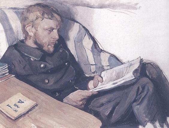 Zinaida Yevgenyevna Serebriakova(1884ー1967)「Portrait of Boris Serebryakov」