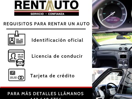 Requisitos para rentar en RENTA AUTO