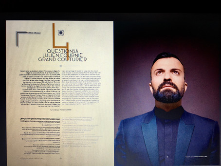 Le grand couturier Julien Fournié, Magazine The Gate Collection n°2